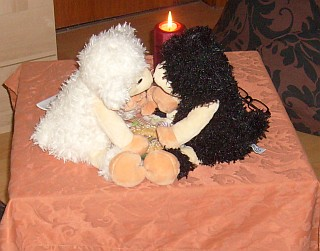 Bob Bärbel Candlelight Kuss