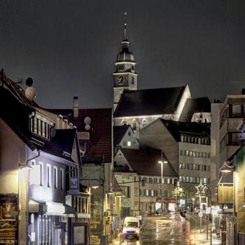 Böblingen bei Nacht - Postplatz