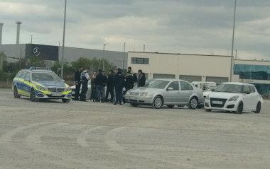 Car-Freitag mit der Polizei
