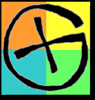 Geocaching Logo bunt Schatten free public domain frei zu benutzen