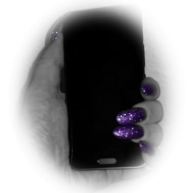 Kein Netz Handy schwarz