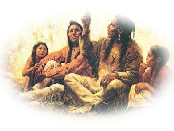 Indianer zwei Wölfe Geschichten erzählen