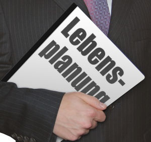 Lebensplanung Geschäftsmann