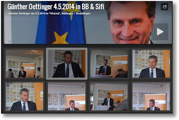 Günter Oettinger war heute in Böblingen/Sindelfingen