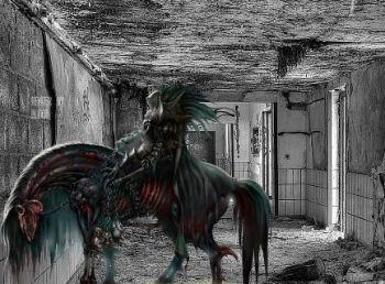 Totes Pferd Apokalyptischer Reiter
