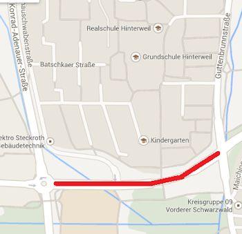 Willy-Brand-Allee Sindelfingen © google maps